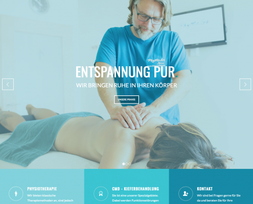Website Phymago in Bruchköbel bei Hanau